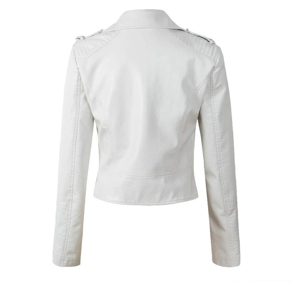 00b3e625dbe Amazon.com   XSQR Motorcycle PU Leather Jacket Women Winter Autumn 4 Color  Zipper Outerwear Jacket Coat
