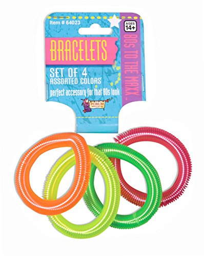 * NEW * 80's Colored Coil Bracelets (Set of 4). Two styles available