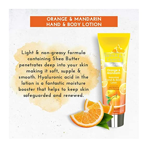 Bryan & Candy New York Orange & Mandarin Dual Pack for Clean, Nourished and Glowing Skin (Shower Gel, Hand and Body
