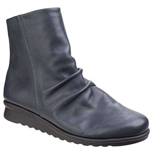Womens Black Ladies The Pan Flexx Boots Ankle Ruched Fried wqC7p