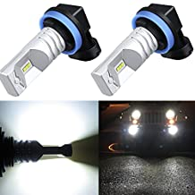 Alla Lighting H11 H8 H16 Xtremely Super Bright High Power White LED Fog Lights Bulbs Replacement