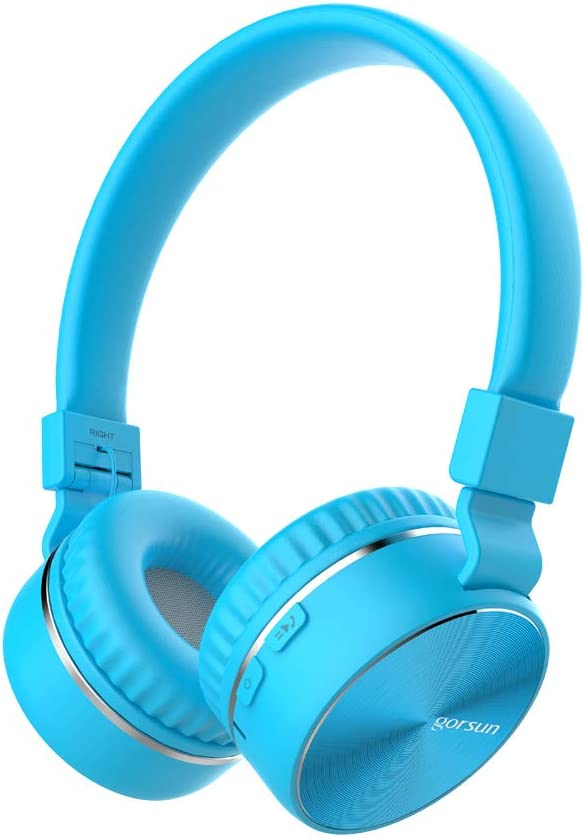 Bluetooth Headphones with Mic, Stereo Wireless Headphones 40 MM Drive, 8 Hrs Playtime Foldable Headset, Support TF Card, FM Radio Wired&Wireless Mode for PC Cellphone TV - Blue