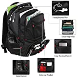 Extra Large Backpack,TSA Friendly Durable Travel Computer Backpack with USB Charging Port/Headphones Hole for Men&Women,Water-Resistant Big Business College School Bookbag Fits 17 Inch Laptop&Notebook