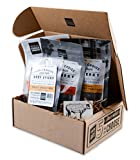 3 beer bbq rub - People's Choice Beef Jerky - Jerky Box - Sweet Tooth - Meat Snack Sampler Gift Basket for Guys - 4 Items