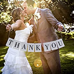 Hmost ® Thank You Vintage Wedding Bunting Banner Photo Booth Props Garland Bridal Show Wedding Decoration