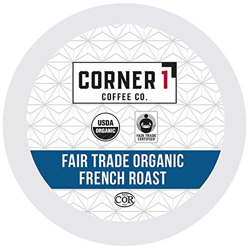 Corner One Coffee, 100 Ct. Single-Serve K-Cup, Fair Trade Organic French Roast, Keurig 2.0 Compatible