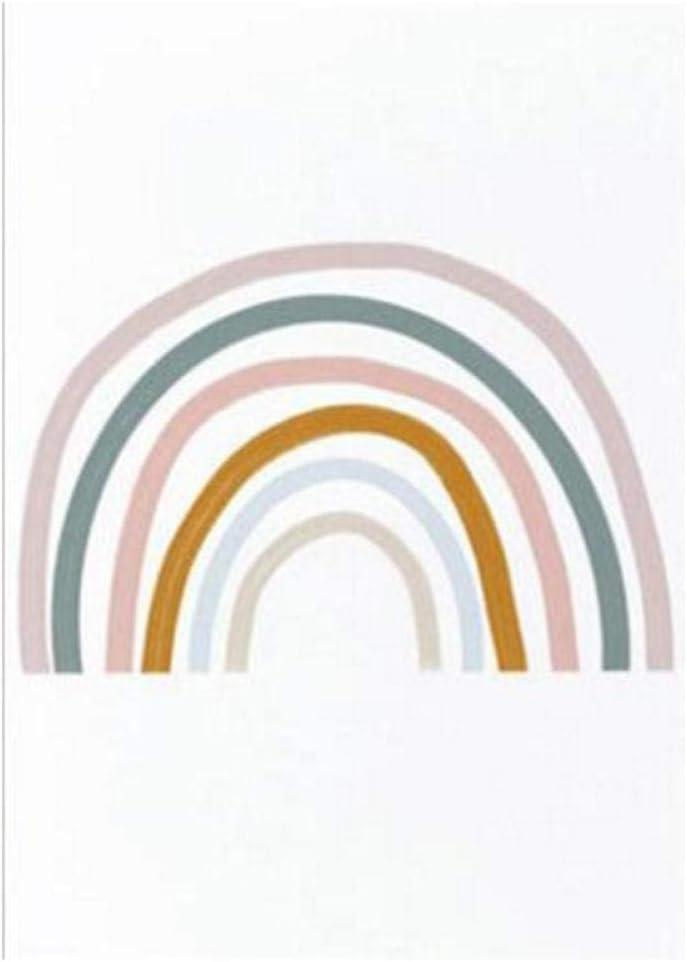 xwwnzdq Regenbogen Kinderzimmer Dekor Alphabet Poster Wandkunst Leinwand Malerei Pop Print Bilder Baby M/ädchen Geschenk Kinderzimmer Wohnkultur 40x60cmx2 Kein Rahmen