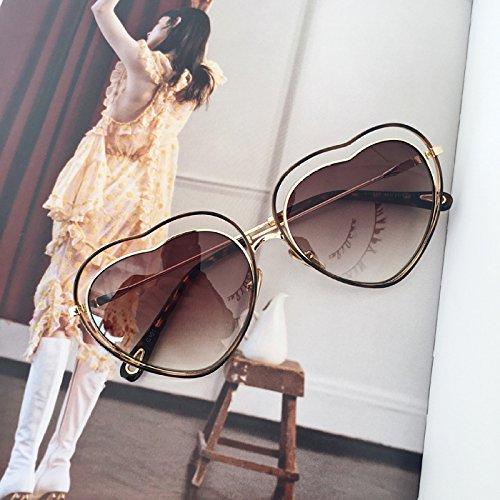 Brown Love Stacking Pink Color Summer Sol Mujer De Style Gafas Gafas De Sol O7qIZ