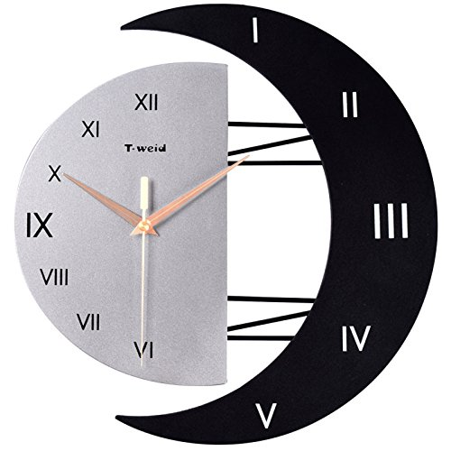 Creative living room wall charts fashion mute wall clock shaped