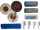 PURUI 11pc Stainless Steel Polishing Buffing Kit Ferrous Metal Polishing Kit