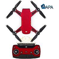 SopiGuard APA Satin Red Precision Edge-to-Edge Coverage Vinyl Sticker Skin Controller 3 x Battery Wraps for DJI Spark