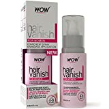 New WOW Hair Vanish For Women - All Natural Hair Inhibitor. Lotion Moisturizes Skin & Reduces Hair Growth, Hair Thickness & Appearance - New Improved Formula