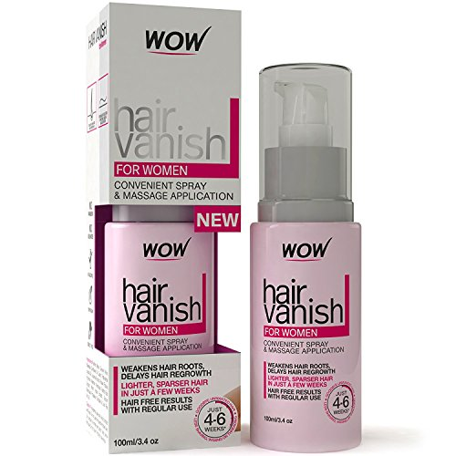 New WOW Hair Vanish For Women - All Natural Hair Inhibitor. Lotion Moisturizes Skin & Reduces Hair Growth, Hair Thickness & Appearance - New Improved Formula by WOW
