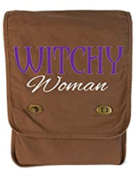 Tenacitee Witchy Woman Java Canvas Field Bag