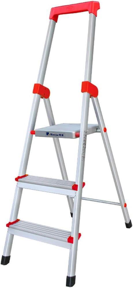 Multifuncional Escalera de herramientas, Escalera metálica de cuatro pasos Escalera plegable de tres pasos Escalera familiar Escalera de almacén al aire libre de la compañía estable: Amazon.es: Bricolaje y herramientas