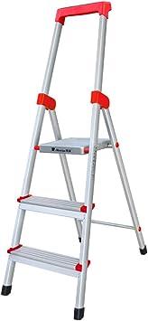 C-J-Xin Escalera de herramientas, Escalera metálica de cuatro pasos Escalera plegable de tres pasos Escalera familiar Escalera de almacén al aire libre de la compañía Escalera de casa: Amazon.es: Bricolaje y herramientas