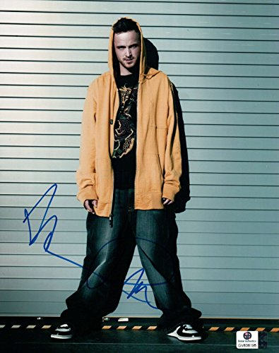 Aaron Paul Signed Autographed 8X10 Photo Breaking Bad Yellow Hoodie GV838195 by Aaron Paul