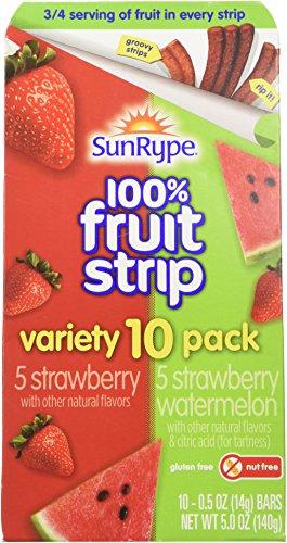 SunRype 100% Fruit Striip Variety 10 Pack Strawberry & Watermelon (Pack of 2)