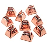 Homeford Small Metal Cowbells, Rose Gold, 1-1/2-Inch, 9-Piece