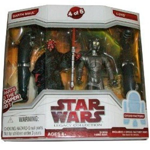 Star Wars Legacy Collection Exclusive Build A Dark Trooper Droid Action Figure 2-Pack Darth Maul and I-5YQ (#4 of 5)
