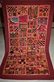 Vintage Tapestry Antique India Handmade Embroidered Patchwork Wall Hanging 61