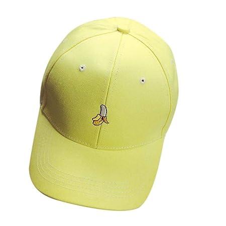 13e32b1b05e Baseball Cap Ajustable Fruit Embroidery Letter Soild Color Fashion Outdoor  Flat Peaked Hat (Color