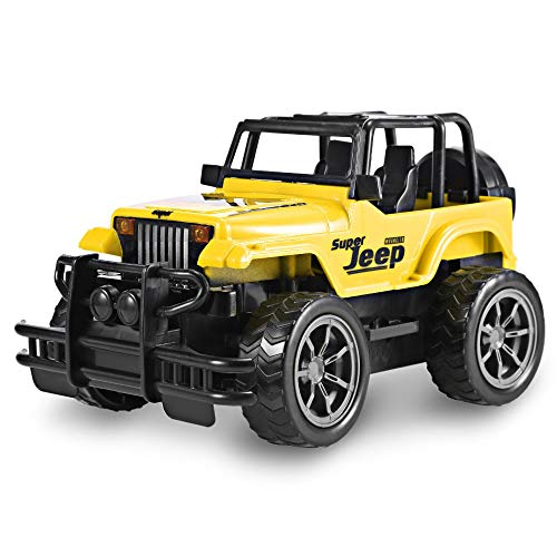 ElevenY 1:24 RC Car Super Big Remote Control Car Road Vehicle SUV Jeep Off-Road Vehicle Radio Control Car Electric Toy Dirt Bike for Boys Girls Children Teenagers Presents (Color : Yellow)