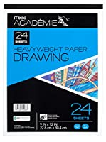 Mead Académie Drawing Pad, 24 Sheets, Acid Free, 9 x 12 Inch Sheet Size (54088)