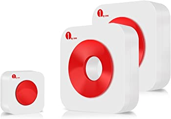 1byone Easy Chime Portable Wireless Doorbell Kit