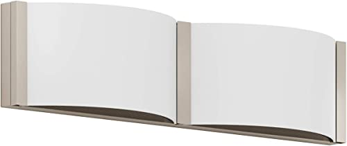 GetInLight Dimmable Vanity Wall Sconce, 18 Inch, 17W, 3000K Soft White , Brushed Nickel Finished, ETL Listed, Damp Location Rated, IN-0404-2-SN-30