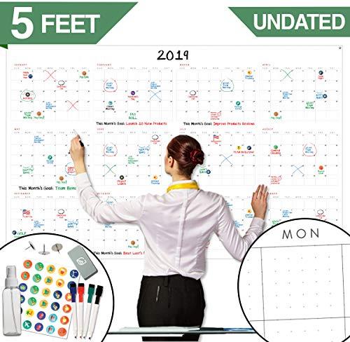 - Large Dry Erase Wall Calendar - 60