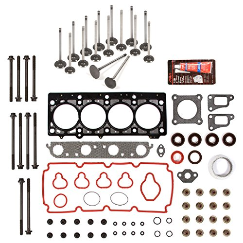 Evergreen HSHBIEV5033-2 Head Gasket Set Head Bolts Intake Exhaust Valves Fits 02-05 Chrysler Dodge Plymouth 2.0L ECB