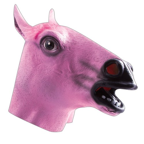 HMS Men's Horse Mask, Pink, One Size