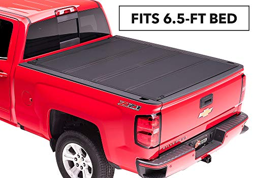 "BAKFlip MX4 Hard Folding Truck Bed Tonneau Cover | 448121 | fits 2014-19 GM Silverado, Sierra 6' 6"" bed"