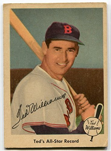 Fleer 1959 Ted Williams All-Star Record Card #63 Boston Red Sox