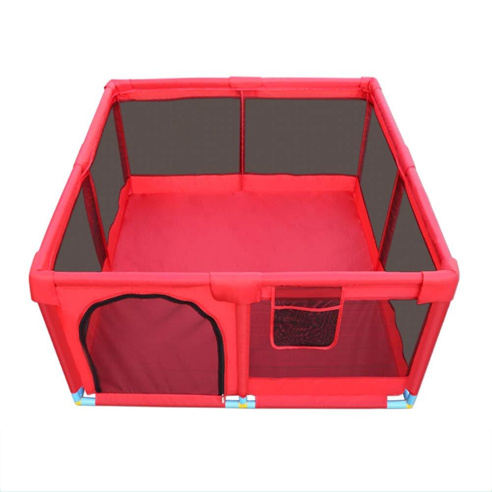 CHAXIA ベビーサークル 赤ちゃん の柵 ゲーム 子 ルパーク ガードレール 通気性 ネット糸 丈夫です、 3色オプション (Color : A, Size : 128x128x66cm) 128x128x66cm A B07TGTRXF3