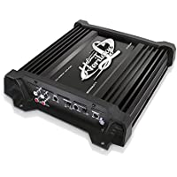 Lanzar Amplifier Car Audio, Amplifier Monoblock, 1 Channel, 2,000 Watt, 2 Ohm, RCA Input, Bass Boost, Mobile Audio, Amplifier for Car Speakers, Car Electronics, Crossover Network (HTG137)