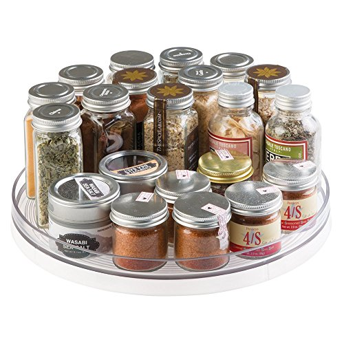 Kitchen Cabinet Turntable: MDesign Lazy Susan Turntable Spice Organizer For Kitchen