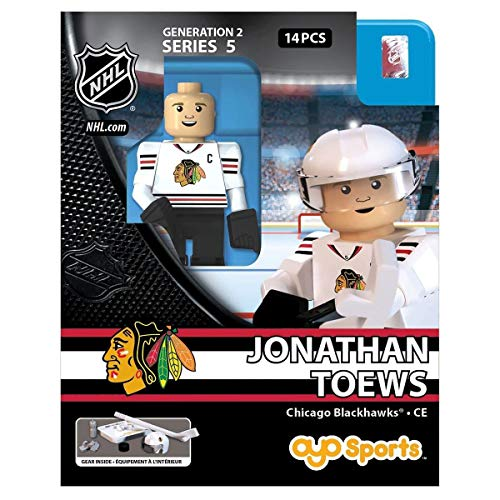 Chicago Player Blackhawks - OYO NHL Chicago Blackhawks Jonathan Toews GEN 2 Limited Edition Minifigure, Small, Black