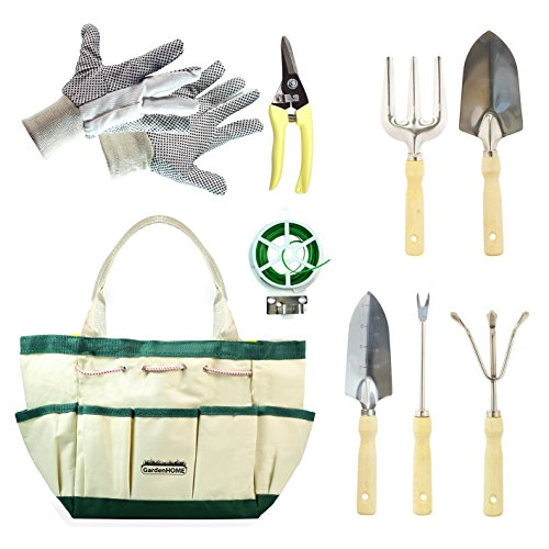 Gardenhome 9 piece stainless steel garden tool set 5 for Gardening tools malaysia