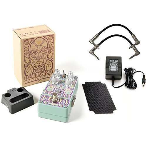 (DigiTech Polara Stereo Guitar Reverb Pedal with Seven Studio grade Lexicon Reverbs Bundle Includes ac power adapter and 2 Path cables for guitars )