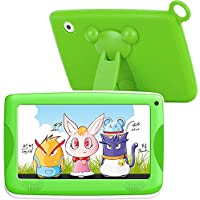 Kids Tablet PC Android 7 Inch IPS Display with Parental Control Software - iWawa 8G ROM 1G RAM Wifi Camera Bluetooth 3D Game HD Video Supported AR Learning Apk&Cards (Green)