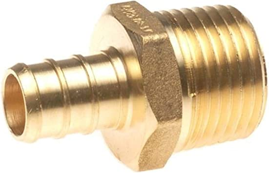 1//2 X 1//2 Brass Crimp Fitting 25 pcs//Brass PEX 1//2 x 1//2 Male NPT Threaded Adapter