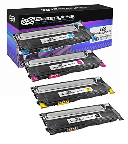(Speedy Inks Compatible Toner Cartridge Replacement for Dell 1230C 1235C 1235CN (1 Black, 1 Cyan, 1 Magenta, 1 Yellow,)