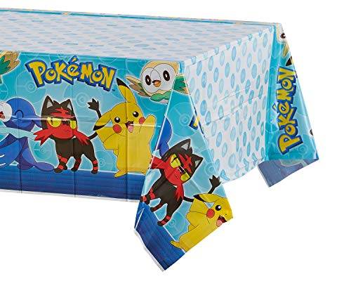 American Greetings Pokémon party supply, 1-Count, Tablecover -