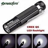 Flashlight,Baomabao 7W CREE Q5 LED 1200lm Mini Flashlight Torch Light 14500/AA Lamp Waterproof_Black