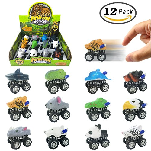 12-Pack-Large-Monster-Pull-Back-Cars-Animal-Pull-Back-And-Go-Vehicles-Toy-Playset-For-Kids-Toddlers