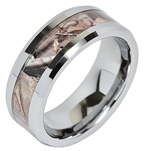 Carbide Tungsten Camouflage Wedding Jewelry