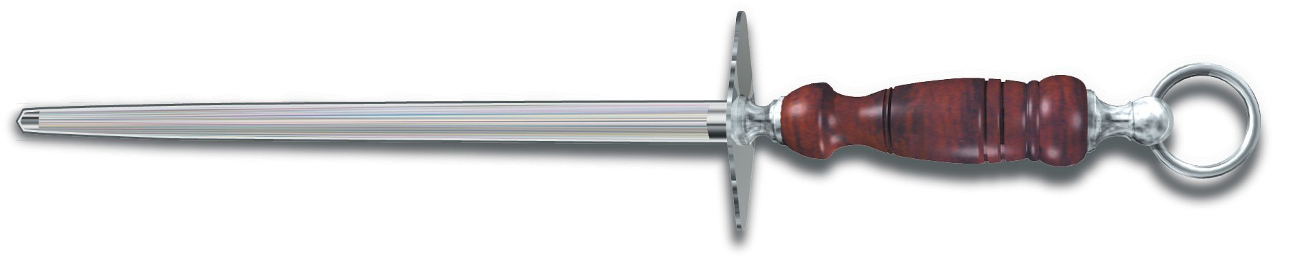 Victorinox Honing Steel 10-Inch Round Regular Cut, Dark Wood Handle