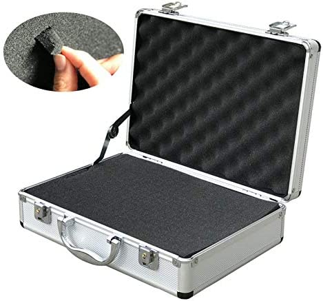 Llsdls Portable aluminum alloy toolbox file storage box antishock Safety equipment tool case instrument case Outdoor box 325x235x100mm (Color : B) C